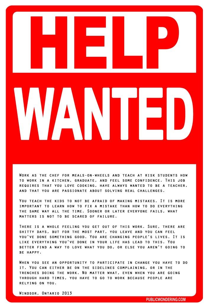 HelpWantedChef